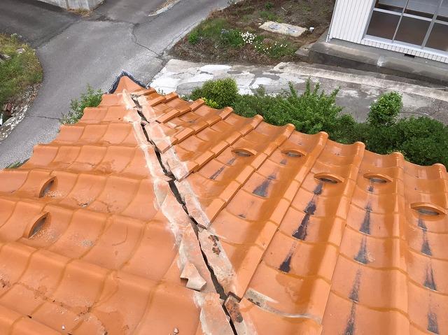 棟の解体が済んだ隅棟