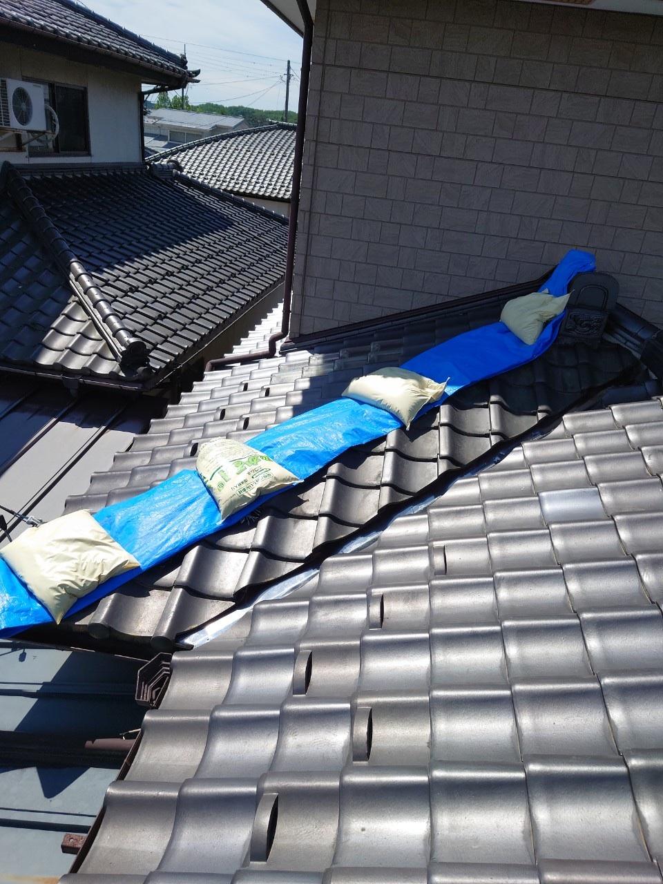 宮城県の地震で崩れた隅棟を修理しました